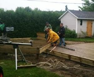 Construction du patio