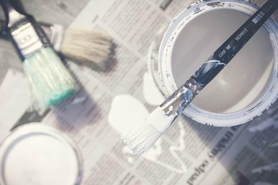 finition de peinture satinée