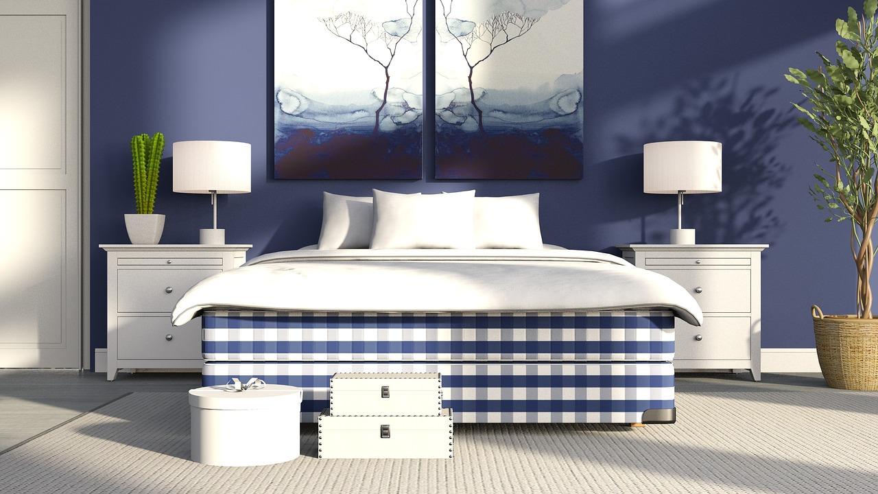 couleurs de mur tendance bleu